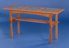Concept Modern Arts And Crafts Furniture Tile Top Table Simple Design