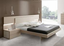 contemporary bedroom furniture white. Outstanding Contemporary Bedroom Furniture Wooden Modern Bed Black And White Matress Brown Wall Color Double Side Table Marble Tiles