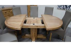 deluxe solid oak round extending dining table previous next zoom image zoom image