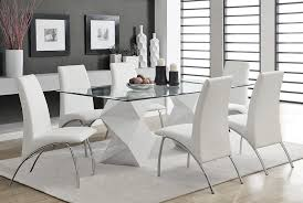 white modern dining room sets. Zigzag White Lacquer Dining Table Modern Room Sets I