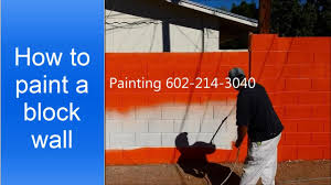 Paint Cinder Block Wall How To Paint A Cinder Block Wall Youtube