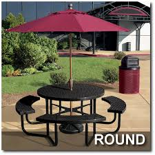 rally collection picnic tables round picnic tables