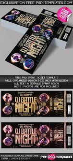 Free Templates For Tickets Free PSD Event Tickets Free PSD Templates 23