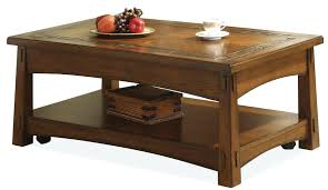 riverside furniture coffee table riverside furniture craftsman home lift top coffee table with slate tile border