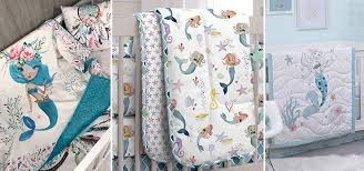 mermaid crib bedding and mermaid