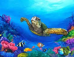 azqsd sea turtle diamond painting cross stitch animals picture full mosaic painting of diamond embroidery cross stitch