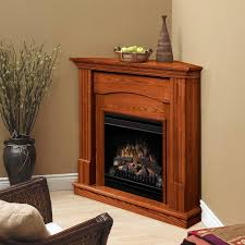 dimplex inch branson corner electric fireplace with mantel ventless gas wall heater blower luminara taper candles