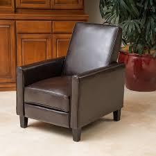 modern leather chair. Amazon.com: Lucas Brown Leather Modern Sleek Recliner Club Chair: Kitchen \u0026 Dining Chair O