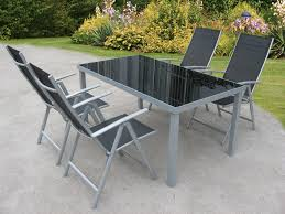 patio table amp chair sets fresh black glass outdoor h37w for in garden and