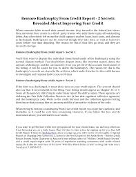 remove bankruptcy from credit report 2 secrets revealed about improving your credit 1 728 cb=