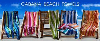Beach towels Embroidered Larger Photo Razatrade 30x62 Terry Velour Cabana Stripe Beach Towels assorted Colors
