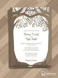 wedding invitation design templates free editable and printable pdf wedding invitation template woods