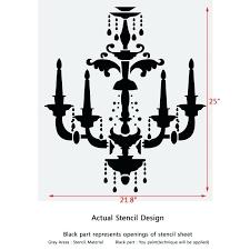 chandelier stencils for walls painting chandelier birds stencil