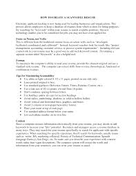 Scannable Resume Example Examples Of Resumes