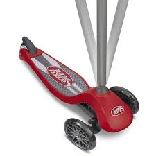 radio flyer lean n glide with light up wheels scooter red walmart