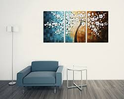 winpeak art hand painted abstract large oil painting modern plum blossom artwork floral canvas wall art hangings stretched and framed 72 w x 36 h 24 x36  on plum flower canvas wall art with get winpeak art hand painted abstract large oil painting modern plum