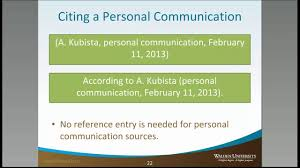 Personal Communication Citations Academic Guides At Walden