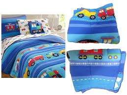 33 fancy train bedding twin size trains air planes fire trucks construction boys full queen cotton blue comforter set thomas
