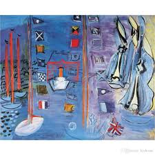 2018 boats oil paintings raoul dufy the basin at deauville landscapes modern art on canvas high quality hand painted from kixhome 85 43 dhgate com