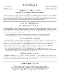 Real Estate Resume Amazing Real Estate Salesperson Resume Samples New Agent Example Real Estate
