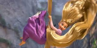 rapunzel slides down hair