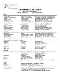 Resume Jennifer Alexander Actress Voice Artist