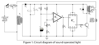 sound operated light electronics project parts list