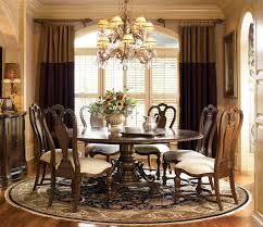 modern dining room decoration furniture wooden round dining table gloss top combined chairs design with white