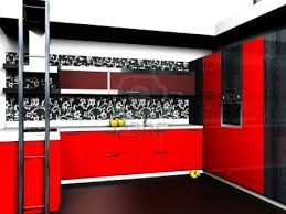 Red And Black Kitchen Black And Red Kitchen Themes Kitchen Black And Red Awesome Color