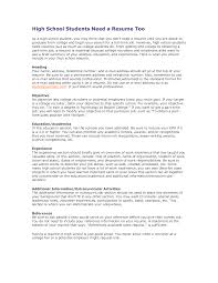 Examples Of Resumes For High School Students High School Graduate Resume Template Student Examples No Work 21