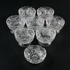 pressed glass vintage pressed glass dessert bowls koyal whole pressed glass floating photo frames