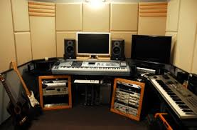 A description and comments about each home recording studio idea is located  below the gallery identified by the name of each photo.