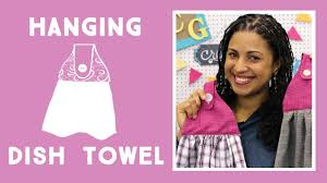 Make an Easy <b>Hanging Kitchen Towel</b> - YouTube