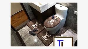 louis vuitton lv toilet seat cover and