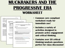 Muckrakers And The Progressive Era Worksheet By Epic History