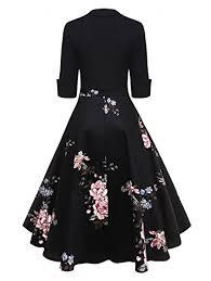 Dresslily Women Swan Printed Belted Dress Buy Online In