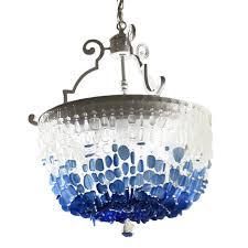 sea glass chandelier. Sea Glass Chandelier 13915 H