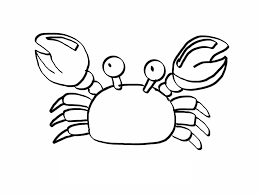 Crab Coloring Printables printable crab coloring pages coloring me on easy crab coutout templates
