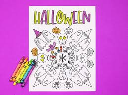 48 halloween coloring pages including pumpkins, monsters, black cats, and witches & wizards. Free Printable Halloween Coloring Page Printables Mad In Crafts