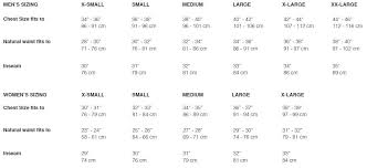 Snow Pants Size Chart Sizing Charts