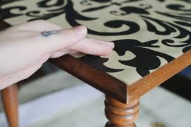 how to decorate furniture. Clean Off The Project Area Using A Dust Cloth, Otherwise And Dirt May Get On Top Surface Of Wallpaper When You Apply Decoupage Medium. How To Decorate Furniture