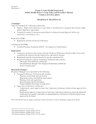 resume for a pharmacy technician objectives awesome sample resume