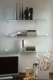 Glass Shelf For Living Room Shelves In Cool Living Room Glass