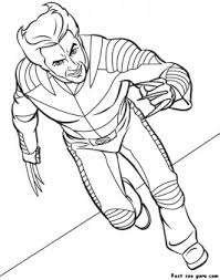 Coloring is a fun way to develop your creativity, your concentration and motor skills while forgetting daily stress. Printable Superhero X Man Wolverine Coloring Page Free Kids Coloring Pages Printable