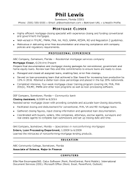 Assistant Loan Processor Sample Resume Mortgage Closer Resume Sample Monster 21