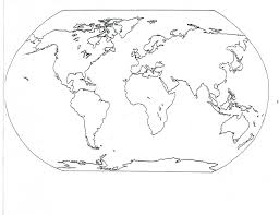 Small Picture world map coloring page 05 for the classroom Pinterest