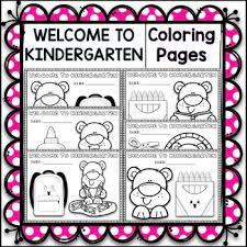 Encourage your child to think about the world around him. 6 Welcome To Kindergarten Coloring Pages By Resources Maker Tpt