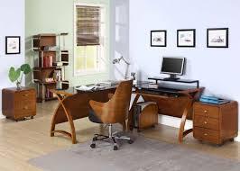 walnut office desks. image of a jual curve pc201 corner desk package in walnut and black glass using the office desks t