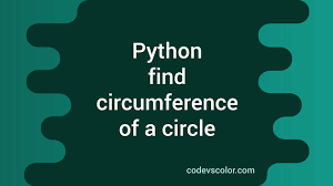 the cirference of a circle