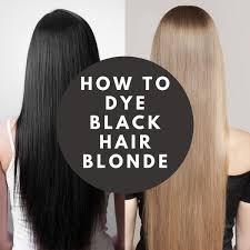 how to dye black hair blonde bellatory